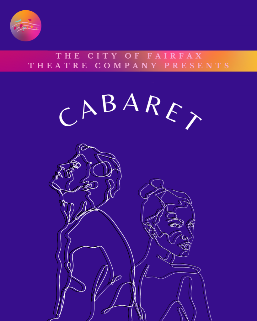 Purple background with Comedy in white text. Sketch of two emotional people